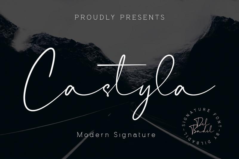 Castyla Modern Signature Font-1