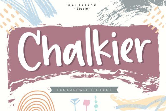 Chalkier Handwritten Font-1