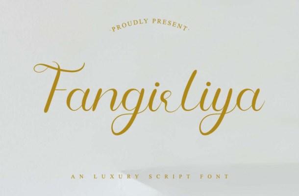 Fangirliya Calligraphy Font
