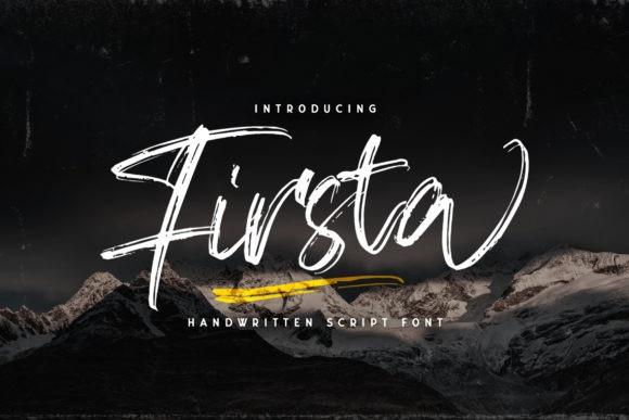 Firsta Brush Font-1