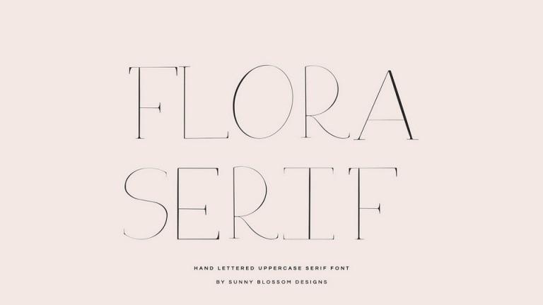 Flora Serif Font-1