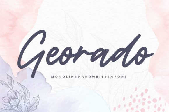 Georado Monoline Handwritten Font-1