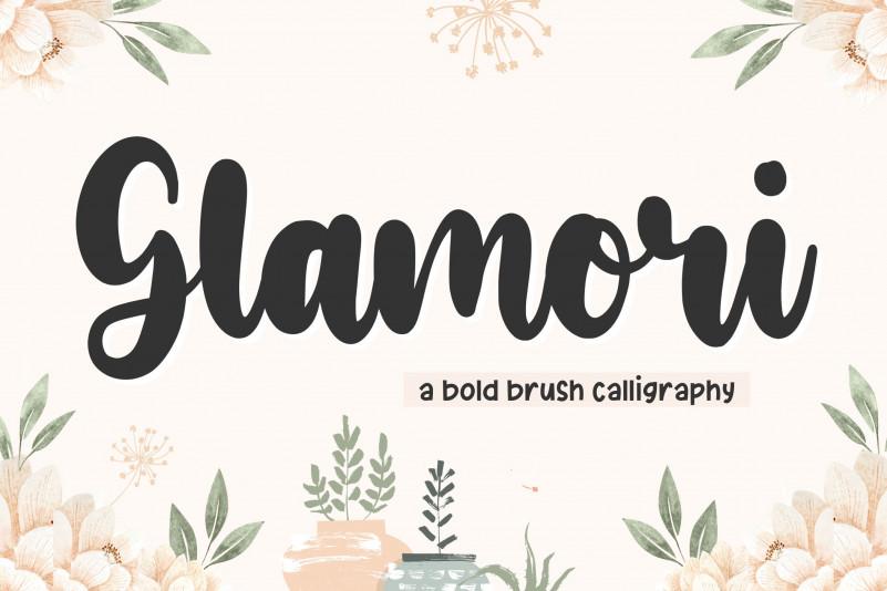 Glamori Bold Script Font-1