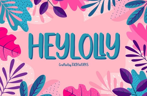 Heylolly Display Font-1
