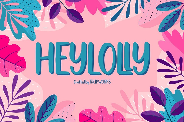 Heylolly Display Font-1