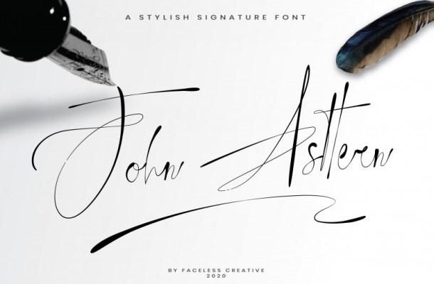 John Asttern Signature Font
