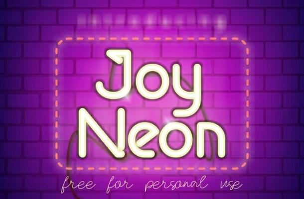 Joy Neon Font Duo