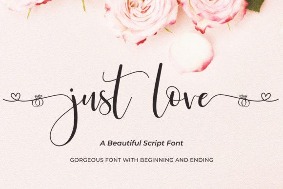 Just Love Calligraphy Script Font