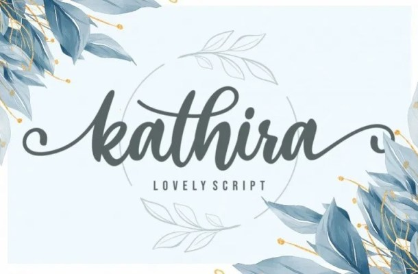 Kathira Calligraphy Script Font