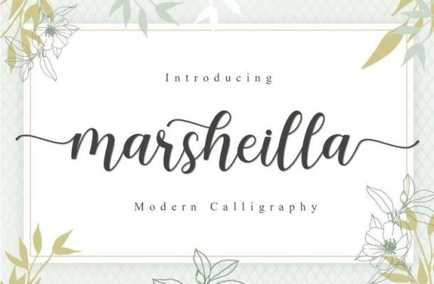 Marsheilla Modern Calligraphy Font