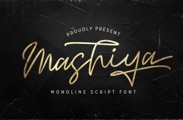 Mashiya Handwritten Monoline Font