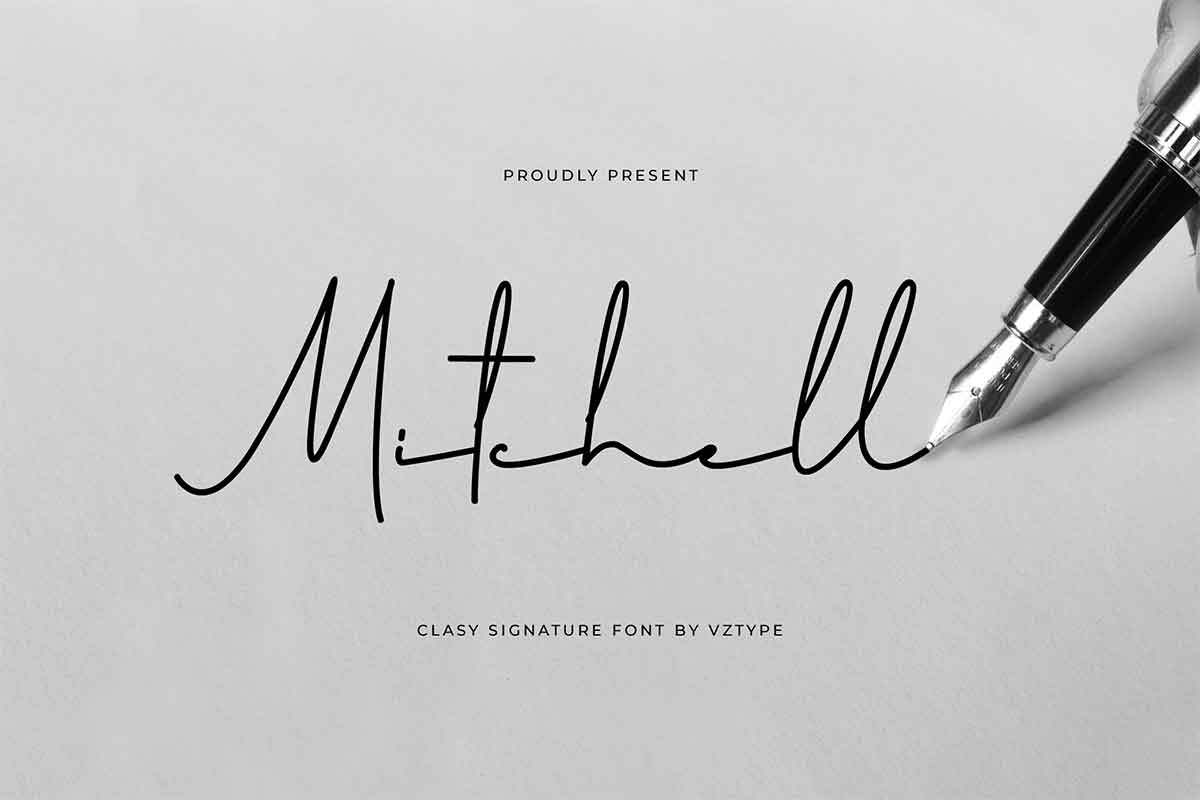 Mitchell Signature Font-1