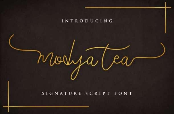 Modya Tea Signature Font