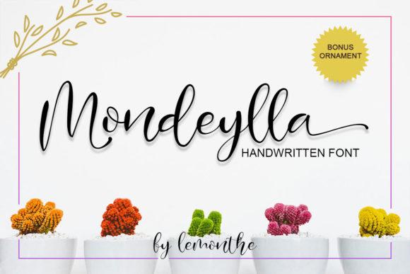Mondeylla Calligraphy Font-1