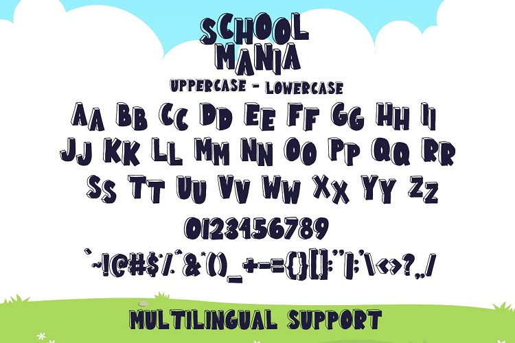 School Mania Display Font-3