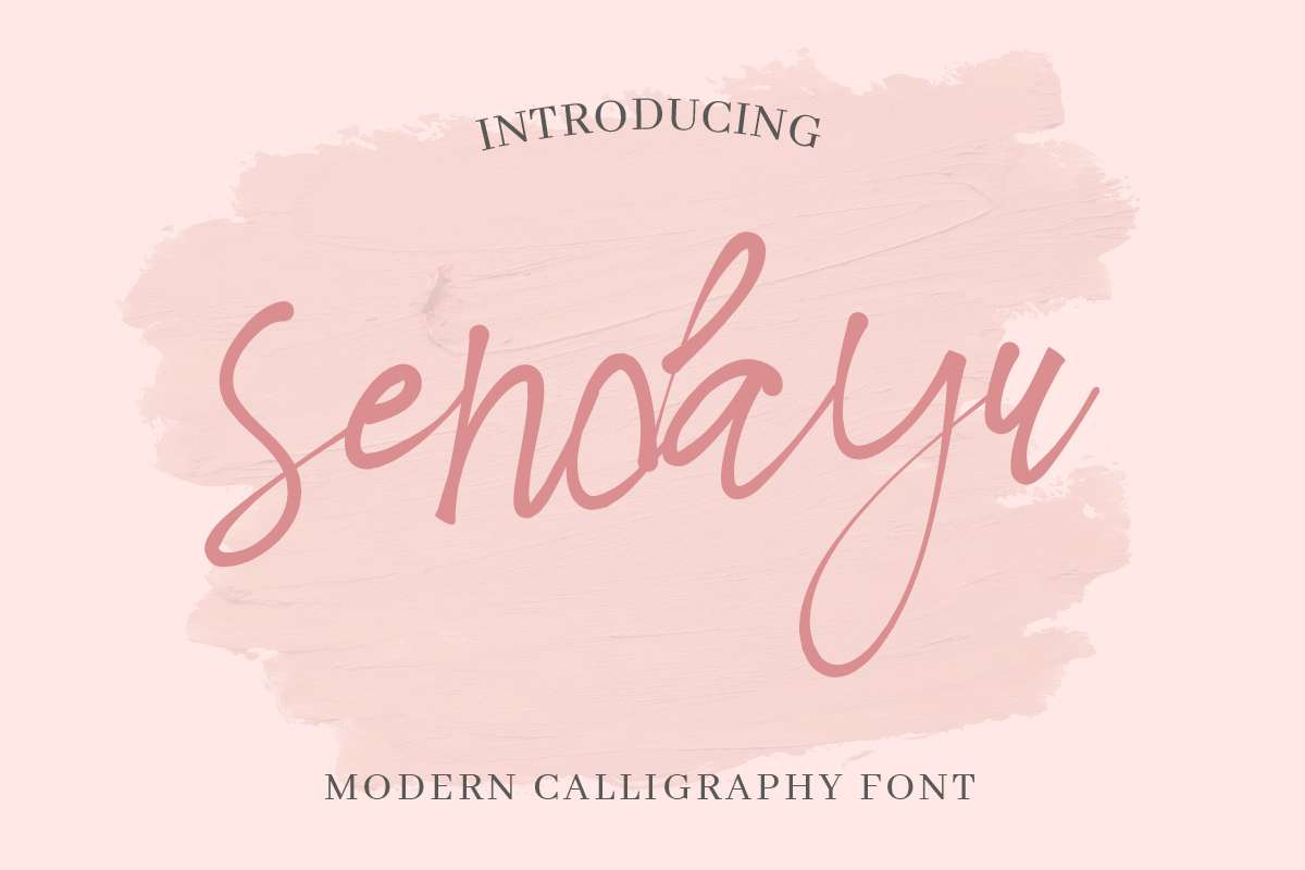 Sendayu Light Calligraphy Font-1