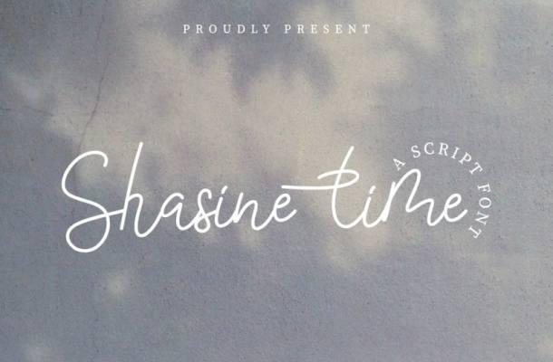 Shasine Time Handwritten Script Font