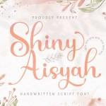 Shiny Aisyah Calligraphy Script Font