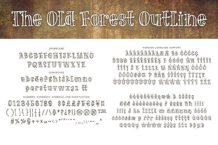 The Old Forest font-3