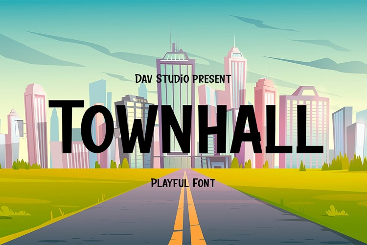 Townhall Display Font-1