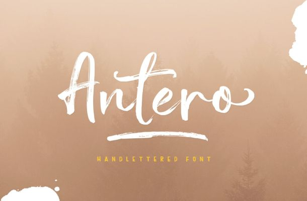 Antero Brush Font