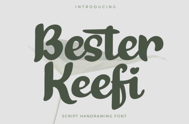 Bester Keefi Bold Script Font