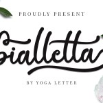 Bialletta Bold Calligraphy Script Font