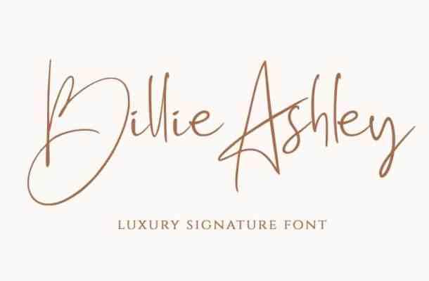 Billie Ashley Luxury Signature Font