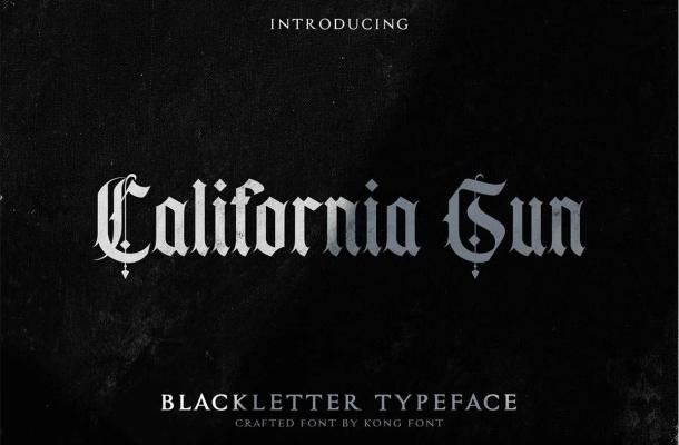California Sun Blackletter Typeface-1