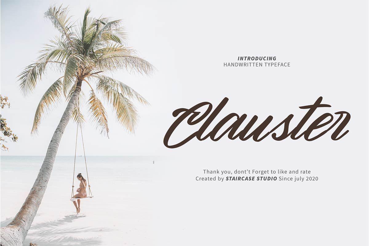 Clauster Script Font-1