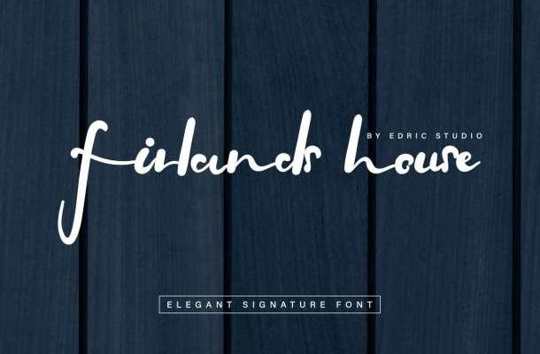 Firlands House Signature Script Font