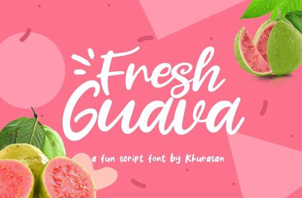 Fresh Guava Bold Script Font