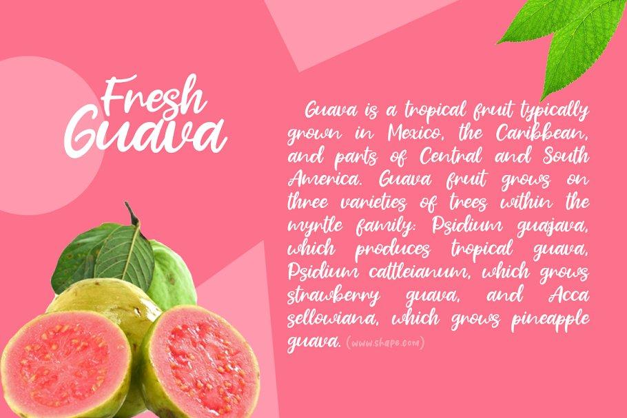 Fresh Guava Bold Script Font-2