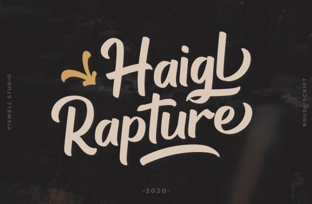 Haigl Rapture Bold Script Font