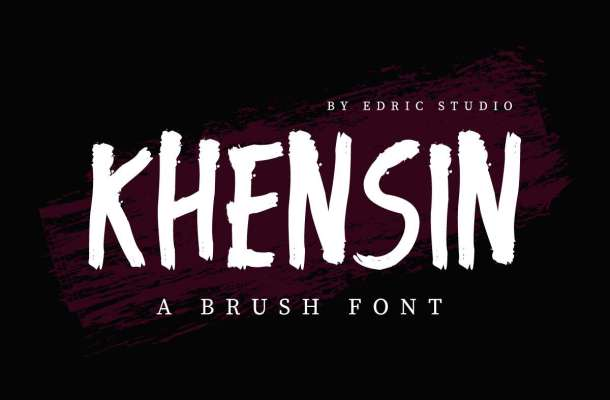 Khensin Brush Script Font