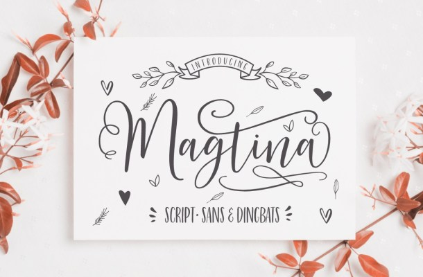 Magtina Calligraphy Script Font
