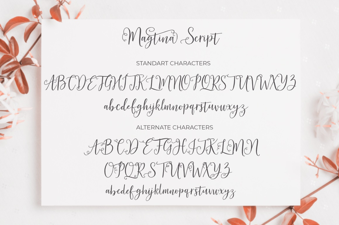 Magtina Calligraphy Script Font-3