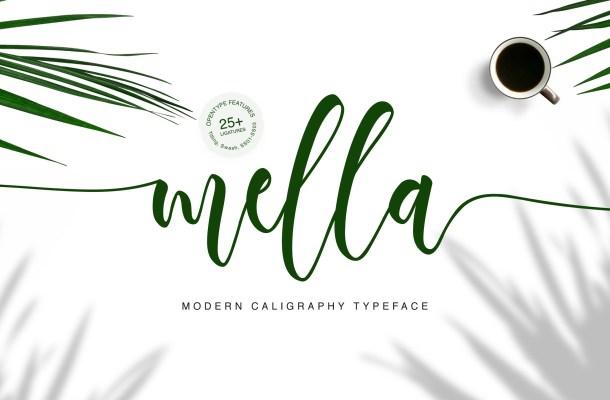 Mella Modern Calligraphy Font