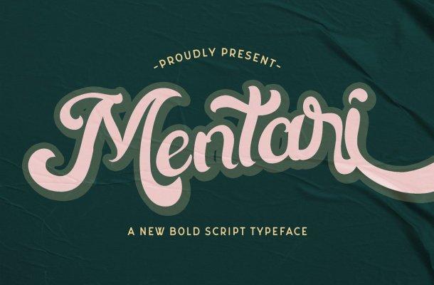 Mentari Bold Script Rerto Font-1