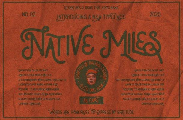 Native Miles Vintage Display Font-1