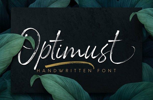 Optimust Brush Script Font