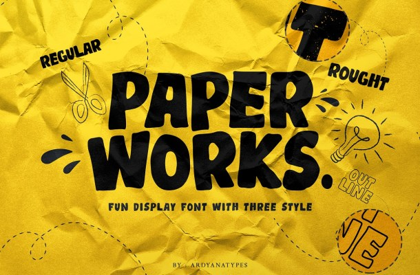 Paper Works Display Font-1