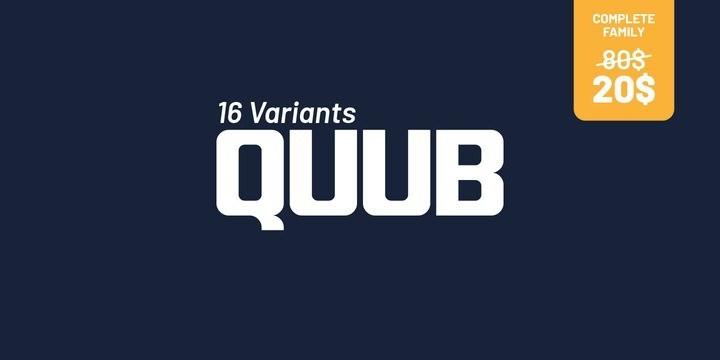 Quub Sans Serif Font Family-1