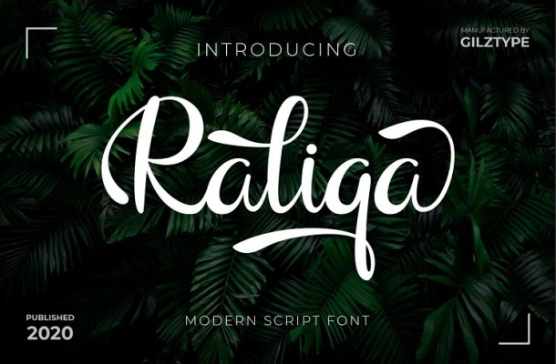 Raliqa Modern Calligraphy Font