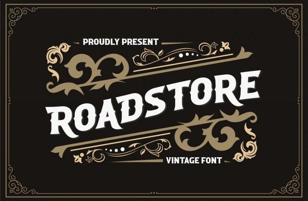Roadstore Vintage Display Font