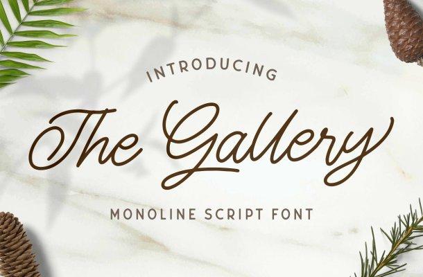 The Gallery Monoline Script Font