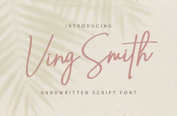 Ving Smith Handwritten Font-1