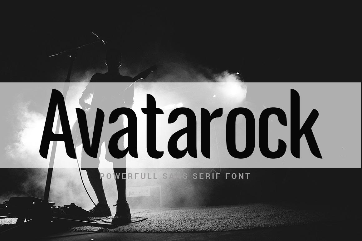 Avatarock Sans Serif Display Font-1