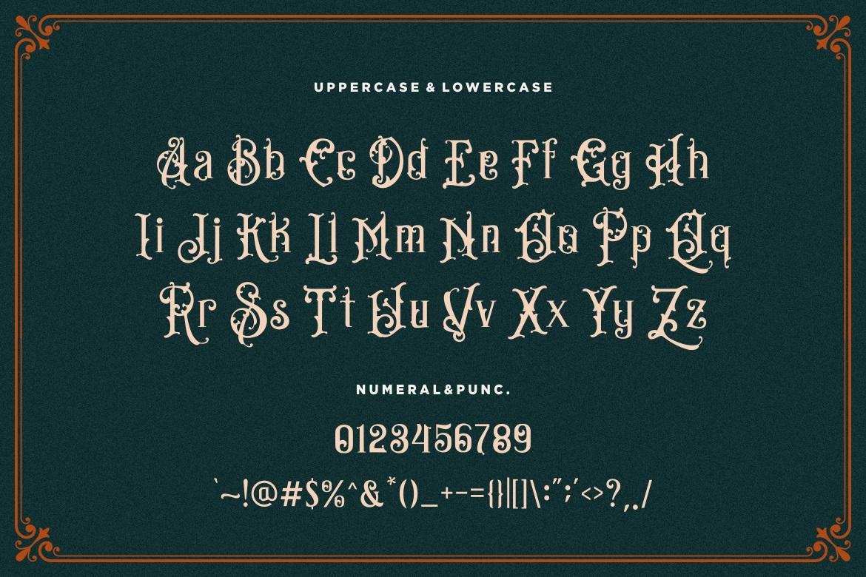 Bandits Blackletter Vintage Typeface-4