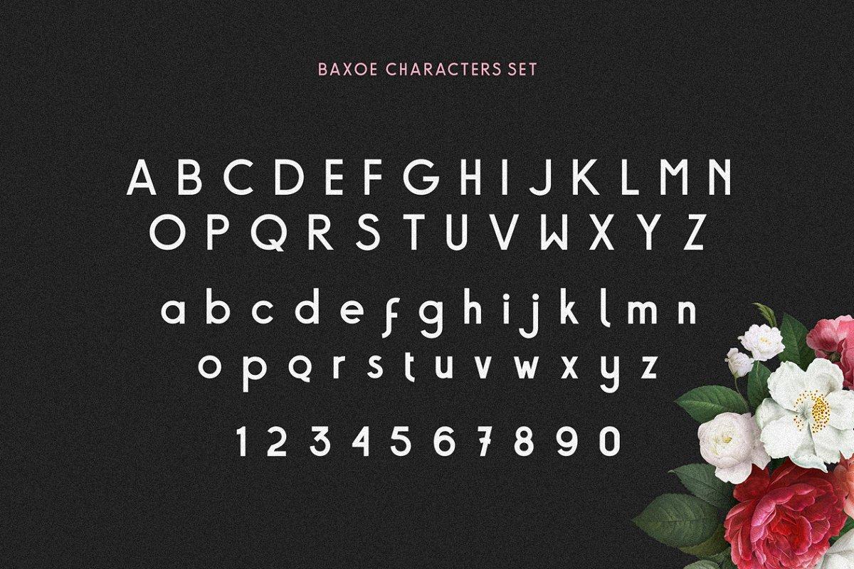 Baxoe Sans Fancy Typeface-3